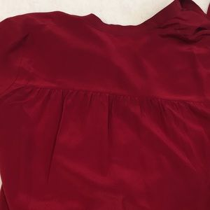 Madewell Tops - Women's silk tie neck Madewell long sleeve top